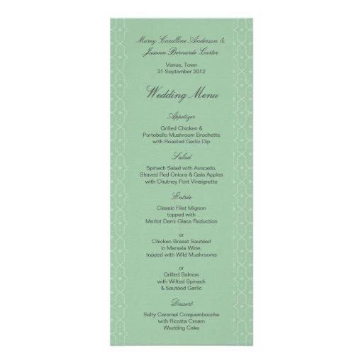 Menú floral 2 del boda del batik de Naila Invitación