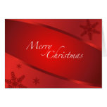 Menu for Memorable Christmas Greeting Card