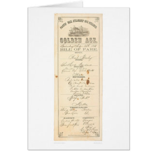 """Menu for Steamer """"Golden Age"""" (1276A) Greeting Card"""