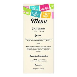 Menu for Wedding or Fiesta Announcement