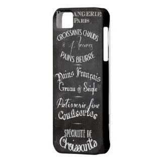 Menú francés de la pizarra del boulangerie funda para iPhone SE/5/5s
