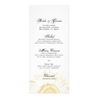 Menú gráfico del boda del girasol tarjeta publicitaria personalizada