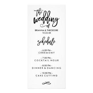 Menú indicado con letras del boda de la mano tarjeta publicitaria personalizada