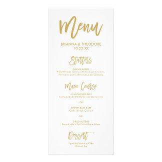 Menú indicado con letras del boda del oro de la lona publicitaria