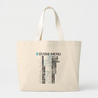 Menú-Jpanese del sushi Bolsa De Mano