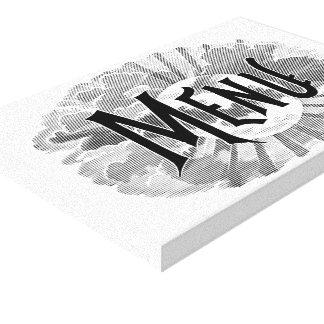 Menu Logo Kitchen Canvas Print
