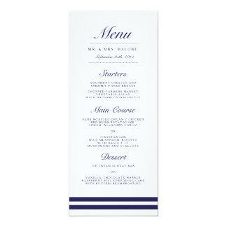 """Menú náutico de la cena de boda de la marina de invitación 4"""" x 9.25"""""""