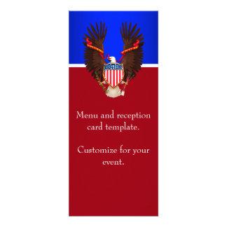 Menú patriótico del rojo blanco y azul del boda anuncios