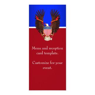 Menú patriótico del rojo, blanco y azul del boda anuncios