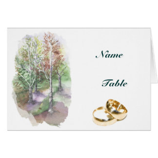 MENU + PLACE HOLDER - trees Card