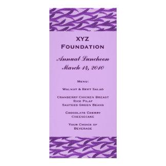 menú púrpura del modelo de la rama plantillas de lonas