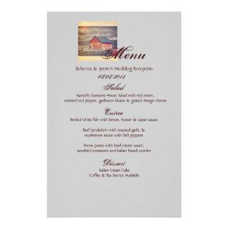 menú rojo occidental rústico del boda del país del  papeleria