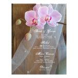 Menú rústico del boda de la elegancia flyer a todo color