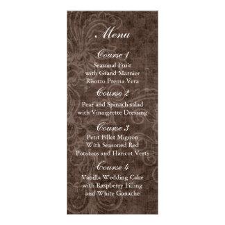 menú rústico del boda del tarro de albañil del abr