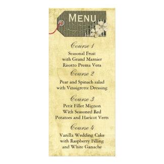 menú rústico del boda del tarro de albañil del lona publicitaria