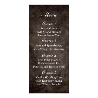 menú rústico marrón del boda del tarro de albañil