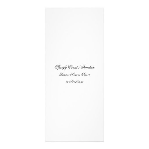 menu template create your own 4 x invitation card zazzle. Black Bedroom Furniture Sets. Home Design Ideas