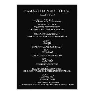 Menu template wedding engagement anniversary 5x7 paper invitation card