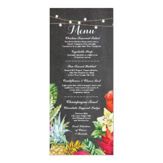 Menu Wedding Reception Rustic Chalk Aloha Cards