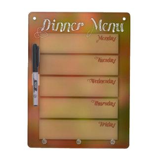 Menú Whiteboard de la cena Pizarra
