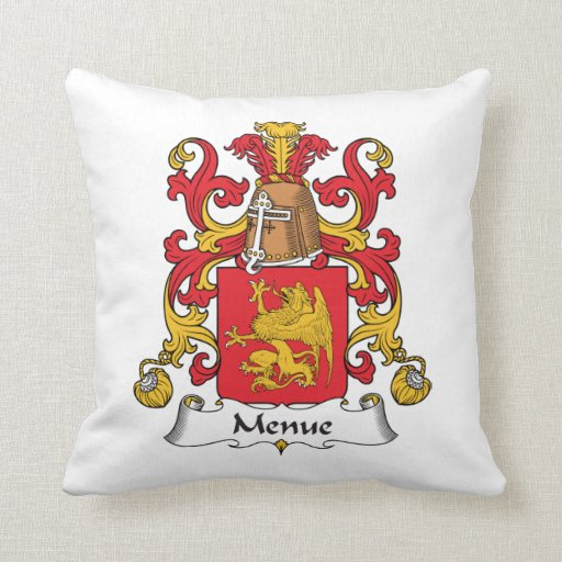 Menue Family Crest Pillows