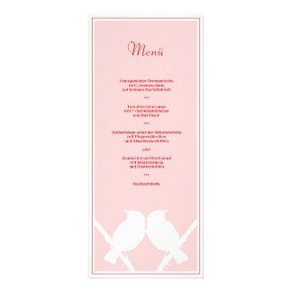 Menükarte para Su menú de boda rosa rojo sabido Comunicado Personal