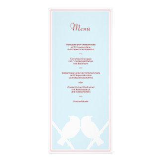 Menükarte para Su menú de boda türkis rojo sabido Comunicados