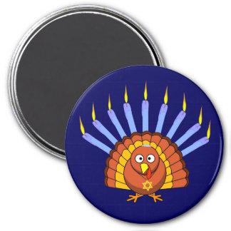 Menurkey Thanksgivukkah Turkey Menorah Magnet
