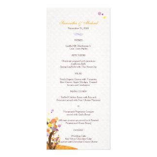 Menús artísticos del boda del tema del árbol tarjeta publicitaria personalizada