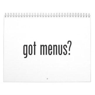 menús conseguidos calendarios