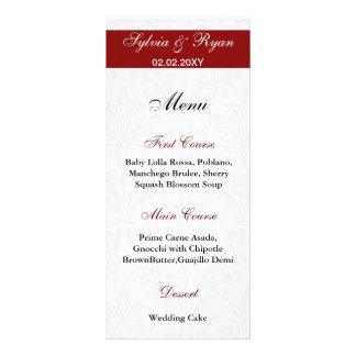 Menús del boda del damasco tarjetas publicitarias a todo color