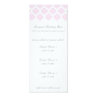 Menús marroquíes rosados del boda del modelo comunicado personal