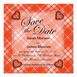 Menzies Scottish clan tartan - Plaid Card