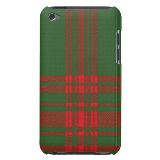Menzies Scottish Tartan Apple iPod Case Barely There iPod Cover