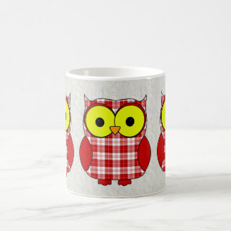 Menzies Tartan Plaid Owl Coffee Mug