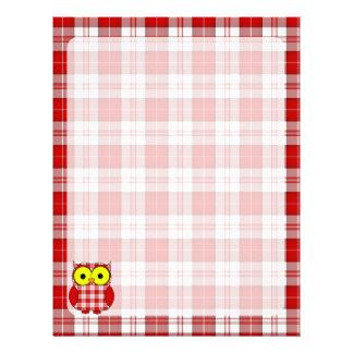 Menzies Tartan Plaid Owl Letterhead Design