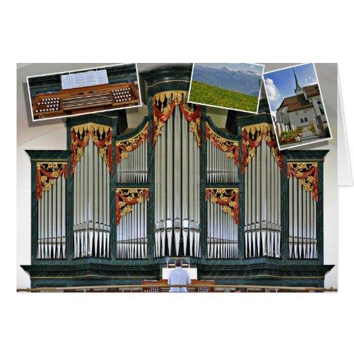 Menzingen parish church organ, Switzerland Greeting Card