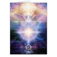 Meo Meditator Light Greeting Card
