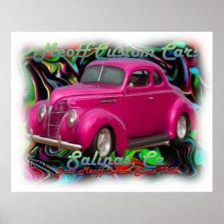 Meoff Custom Cars Poster