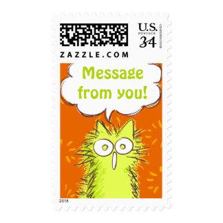 Meoooooooow! Postage Stamp