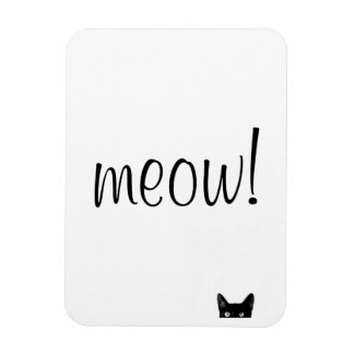 Meow Black Cat Customizable Magnet