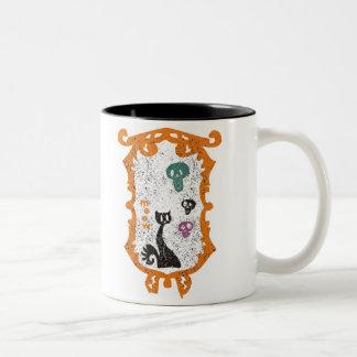 Meow - black cat - Halloween Coffee Mug