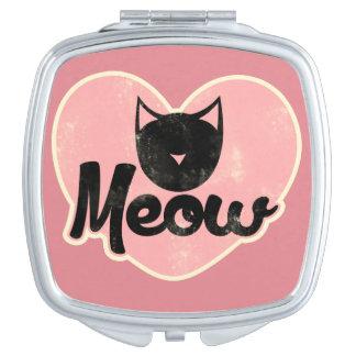Meow Black Cat Makeup Mirror