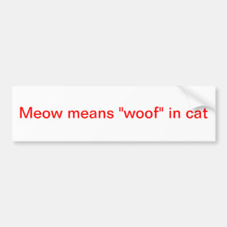 meow bumper stickers