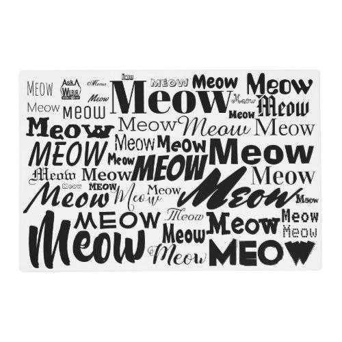 Meow  Cat Bowl Mat