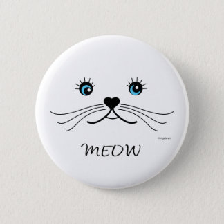 MEOW-Cat Face Graphic Cool Pinback Button