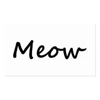 Meow Cat Kitty Voice Meowing Kitten Neko Calling Business Card