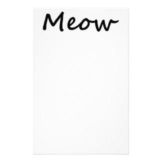 Meow Cat Kitty Voice Meowing Kitten Neko Calling Personalized Stationery