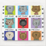Meow Cat Lover Mouse Mat