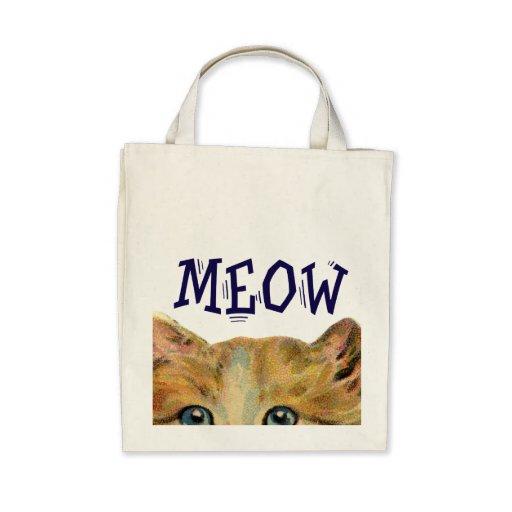 Meow Cat Organic Tote Tote Bags